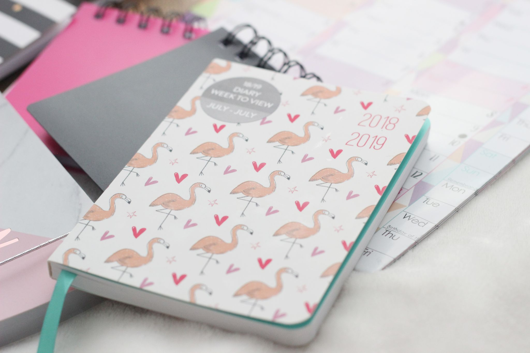 first year stationery tesco flamingo diary