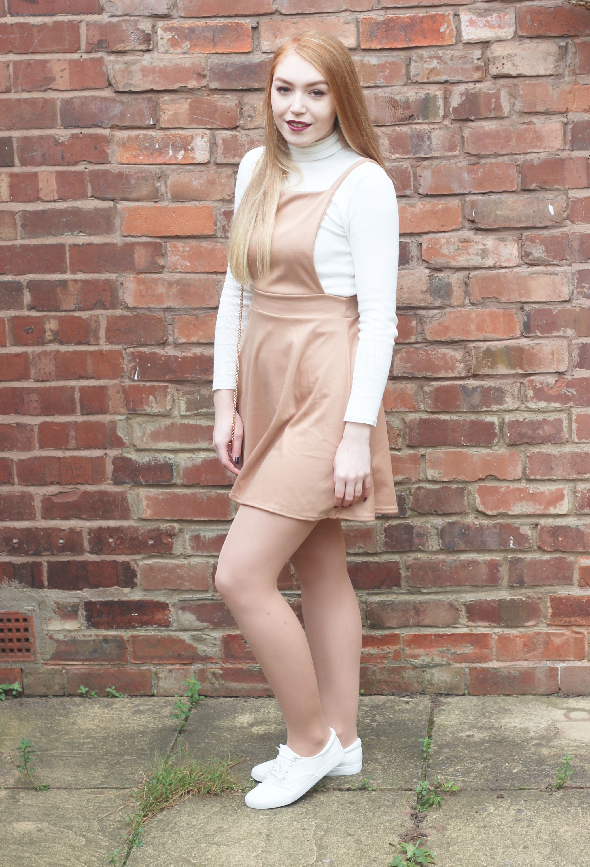 Boohoo Meal Deal Me in Pinafore Brick Wall