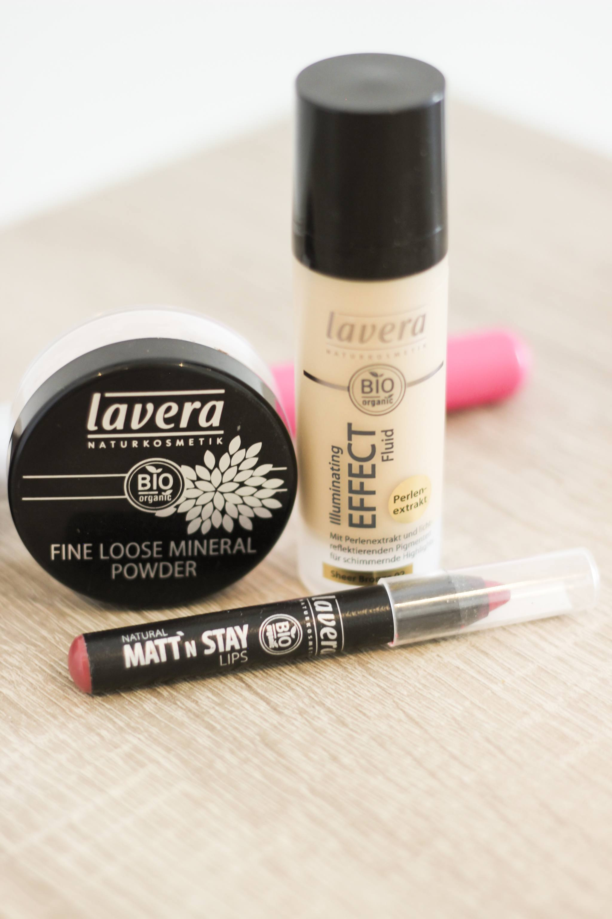 Lavera Make- Up Portrait Powder, Illuminating Liquid, Lip Stick