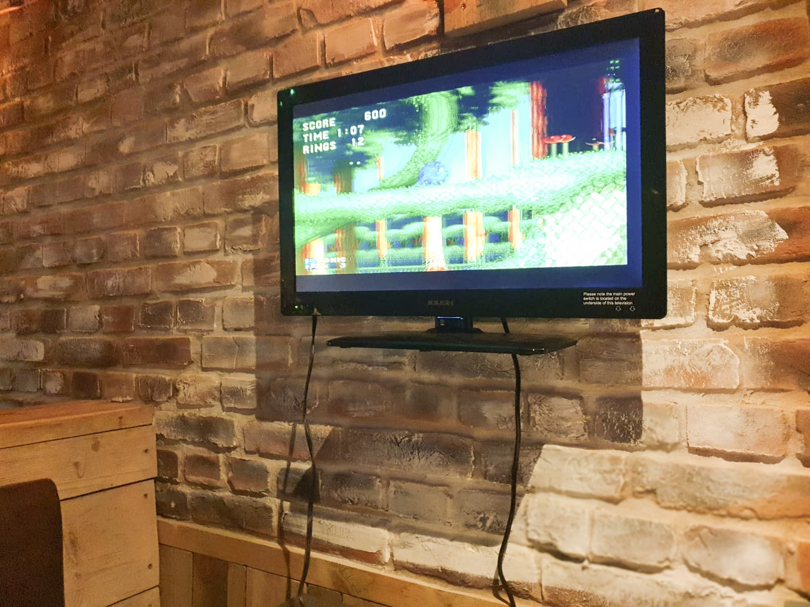 Mega Drive Sonic on TV Wall