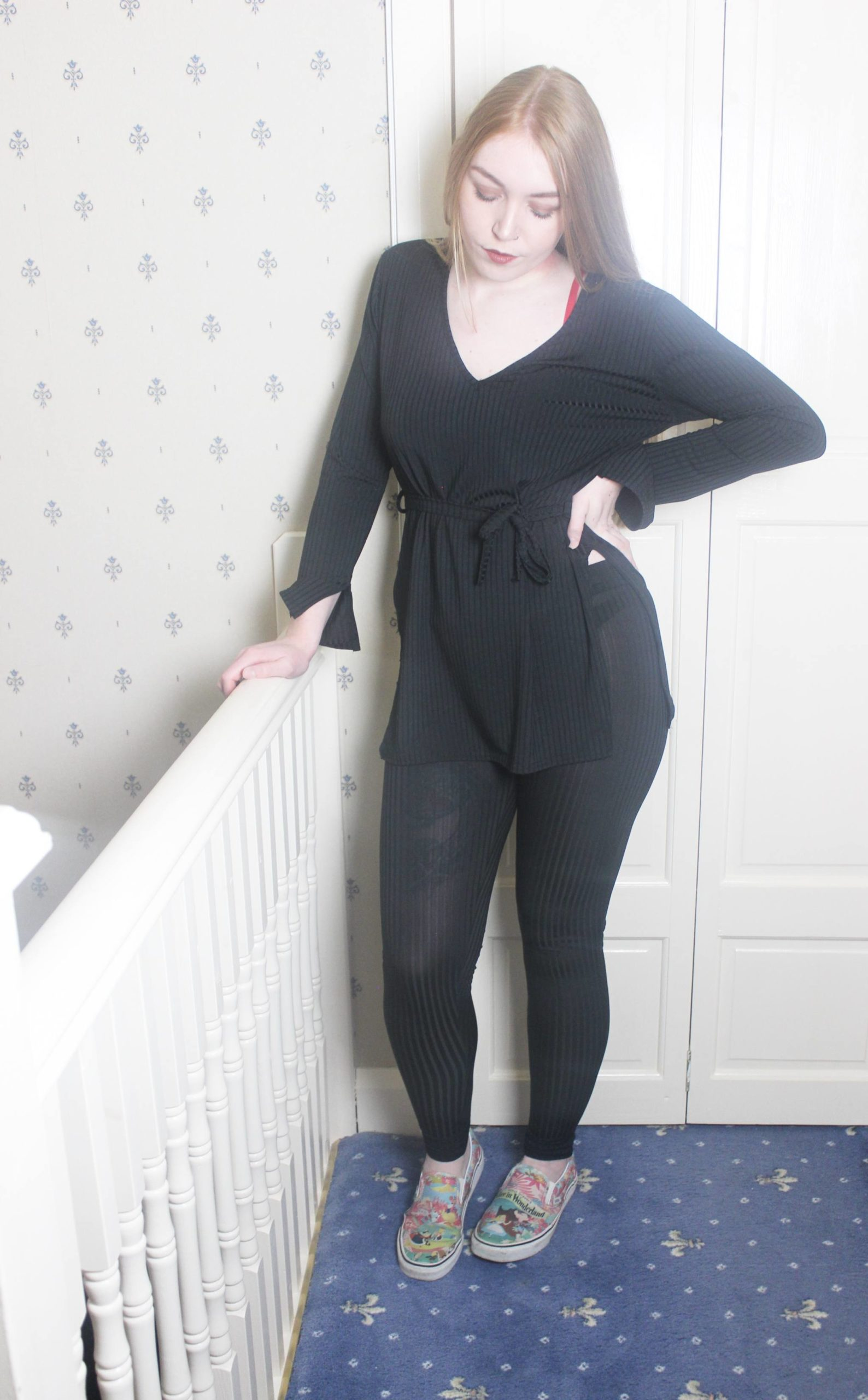 Femme Luxe Woman in Black Loungewear Set