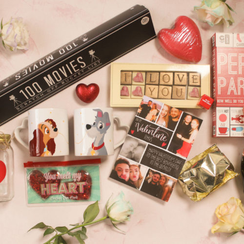 Assortment of Moonpig Valentine's Gifts